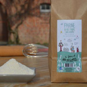 farine semi-complète biologique de blé tendre de meule de pierre