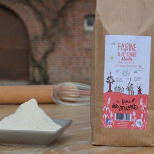 farine blanche de blé tendre biologique meule de pierre